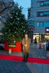 自由が丘南口緑道 クリスマスイルミネーション点灯式(2019/11/24)
